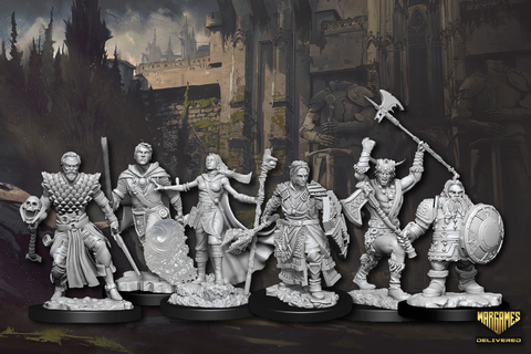 DUNGEONS AND DRAGONS D&D UNPAINTED MINIATURES FOR TABLETOP RPG