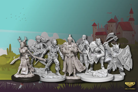 DUNGEONS & DRAGONS UNPAINTED MINIATURES