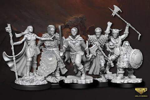 DUNGEONS AND DRAGONS UNPAINTED MINIATURES