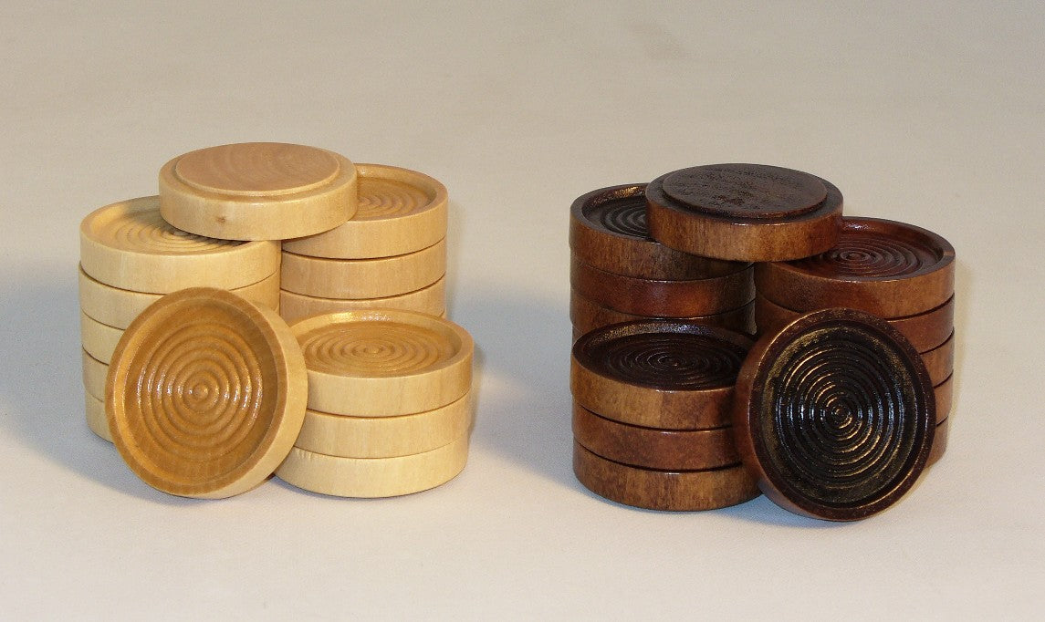 "1.75"" Wood Stacking Checkers"