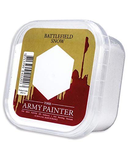 The Army Painter Battlefield Essential Series: Battlefield Snow for Miniature Bases and Wargame Terrains