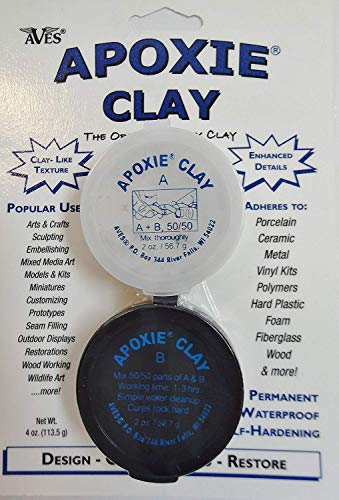Apoxie Clay 1/4 Lb. White Epoxy Clay