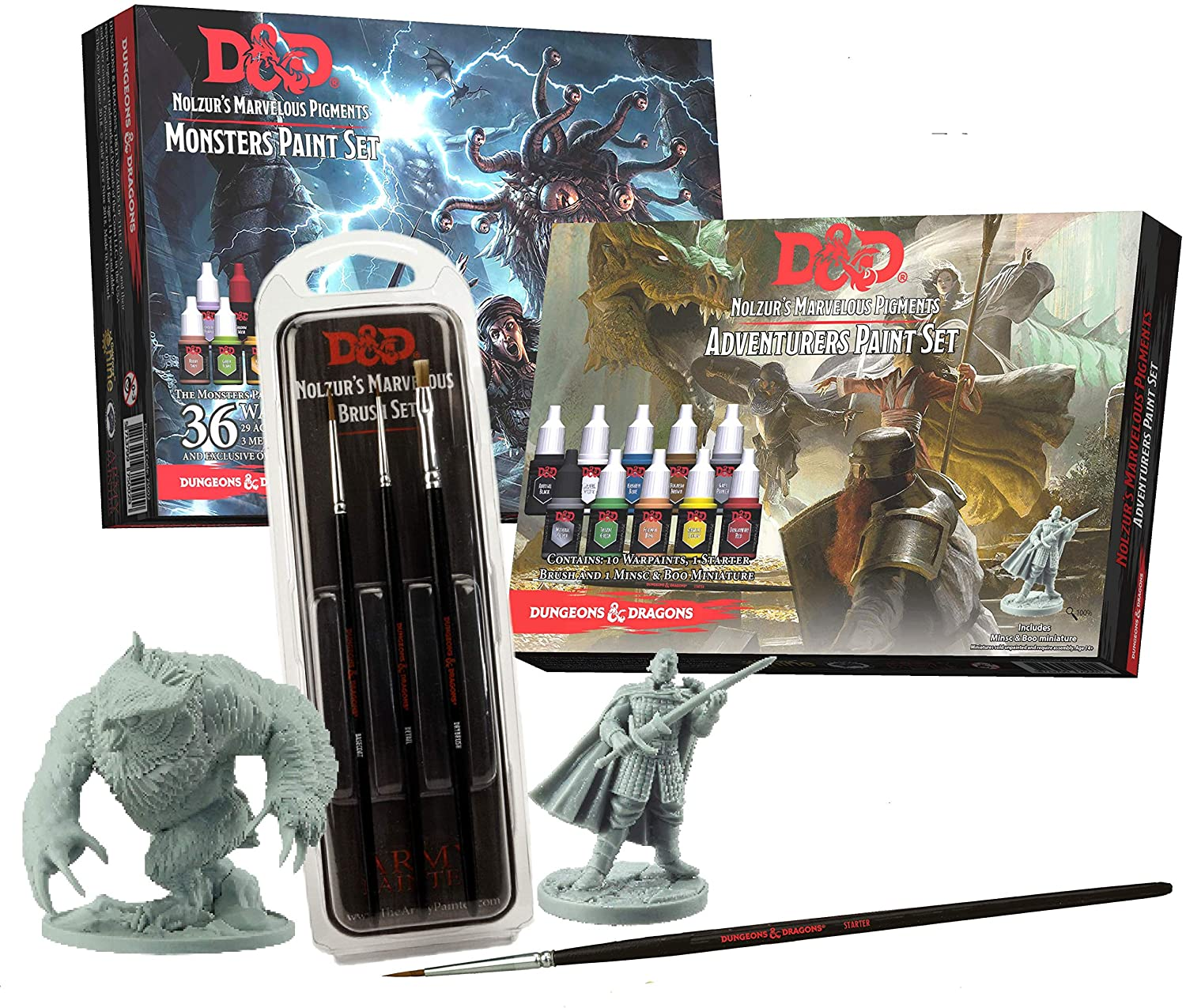 Dungeons and Dragons Official Miniature Painting Kit Bundle