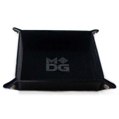 Folding Dice Tray: Velvet 10x10 BK
