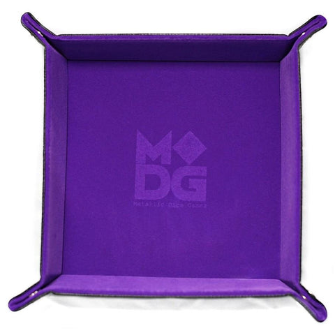 Folding Dice Tray: Velvet 10x10 PU