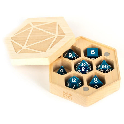 Wood Hexagon Dice Case: Maple