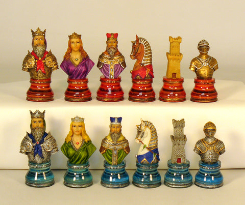 Camelot Busts On Acrylic Bases