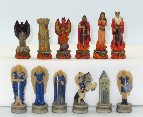 Blue Angels and Red Devils Chessmen