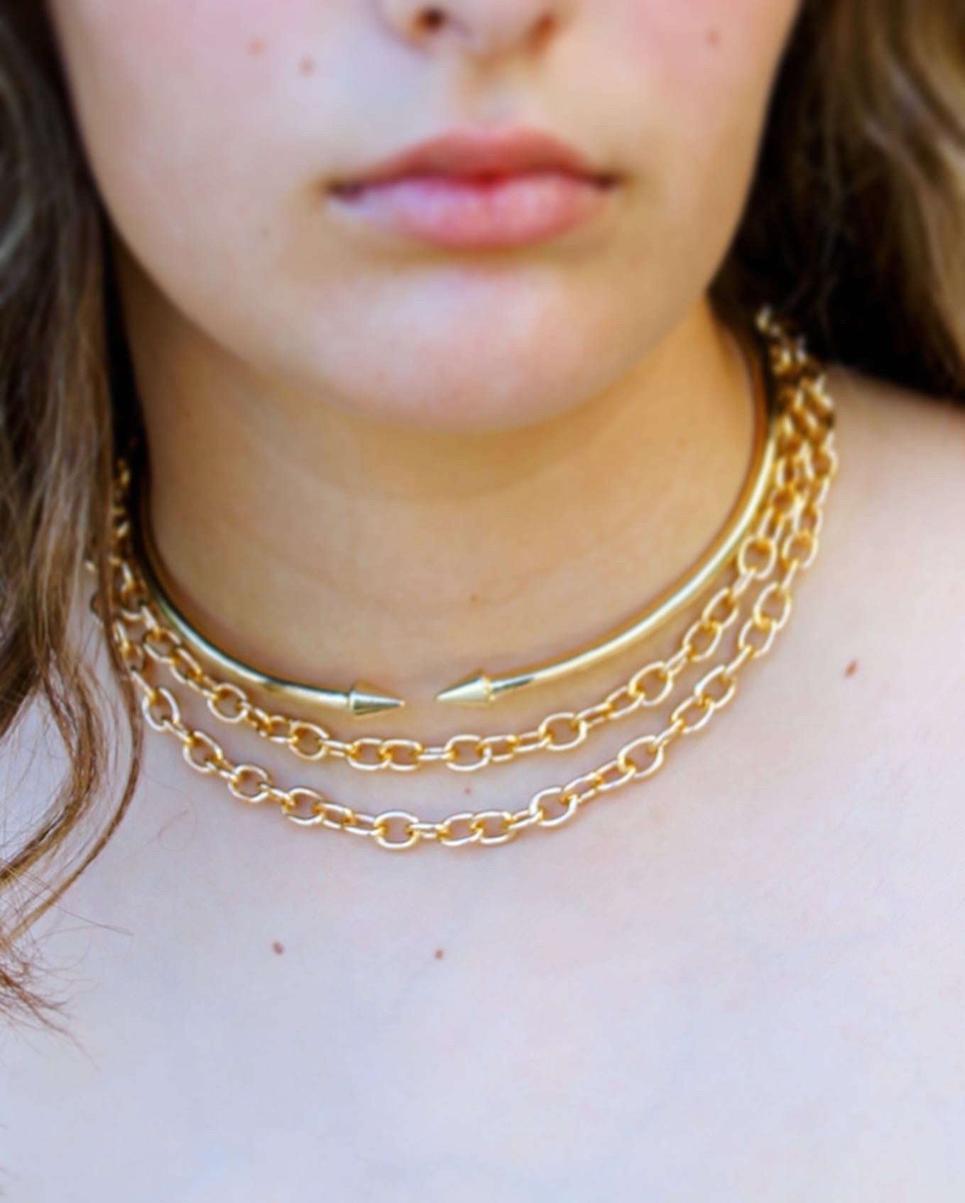 Classic O Link Gold Chain Necklace