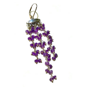 Amethyst and Silver Statement Earrings