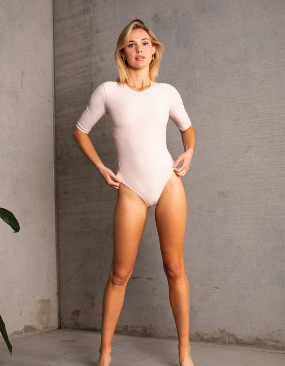 DB SUSTAINABLE 'Stockholm' Long Sleeve Bodysuit - Butter Cream