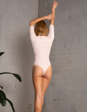 DB SUSTAINABLE 'Stockholm' Long Sleeve Bodysuit - Pink