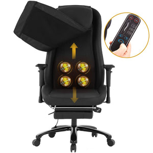 High-Back Massage Chair PU Leather Office Chair Computer Desk Chair Task Executive Chair with Lumbar Support Swivel Rolling Chair for Women, Men