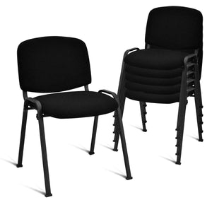 Giantex Set of 5 Conference Chair Elegant Design Stackable Office Waiting Room Guest Reception