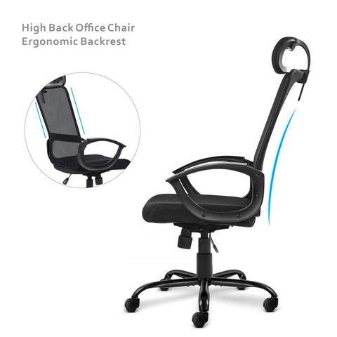 Image of Smugdesk Mid-Back Big Ergonomic Office Lumbar Support Mesh Computer Desk Task Chair with Armrests
