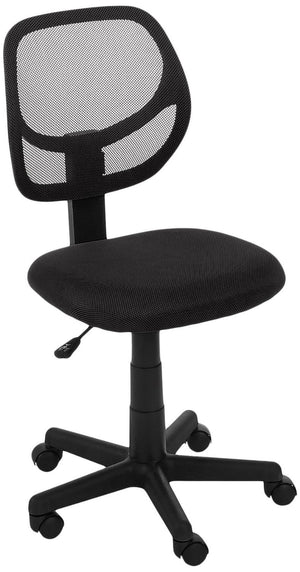 AmazonBasics Low-Back Computer Task Office Desk Chair with Swivel Casters - Black