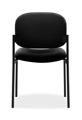 HON Scatter Armless Stacking Guest Chair, in Black (HVL606)
