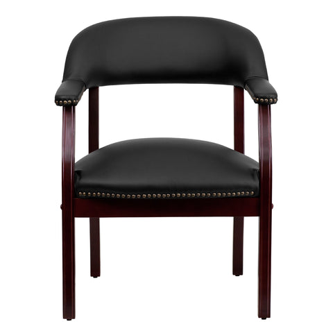 Image of Flash Furniture Black Top Grain Leather Conference Chair