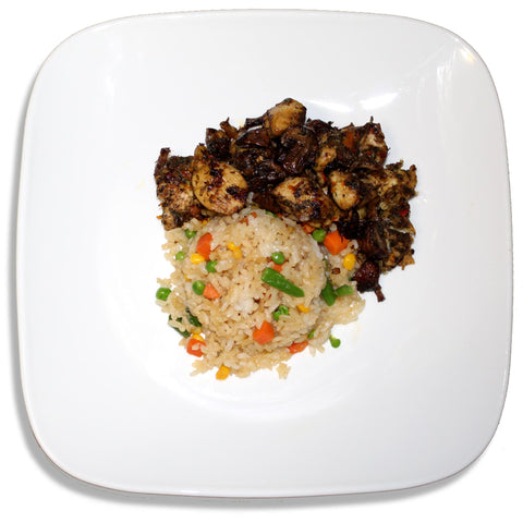 Jerk Chicken and Coconut Fried Rice