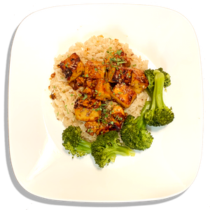 General Tso's Tofu and Basmati Brown Rice