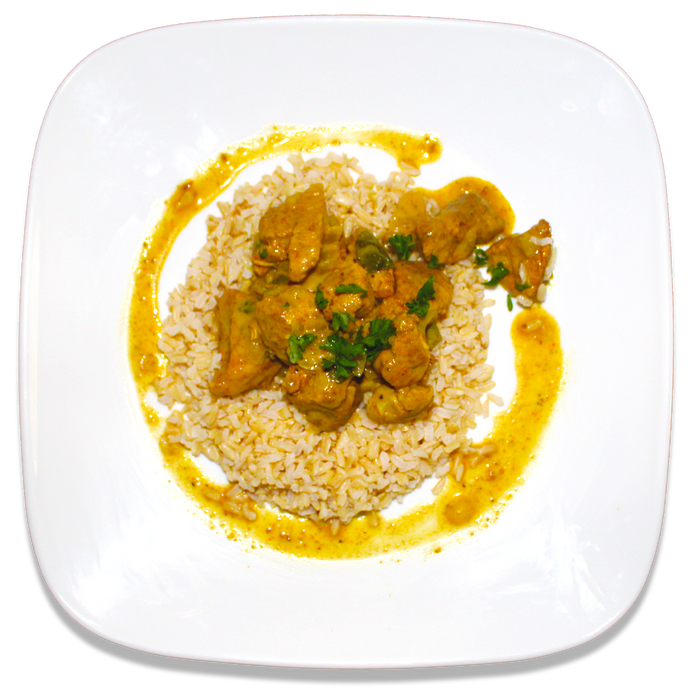 Coconut Basil Curried Chicken [R]