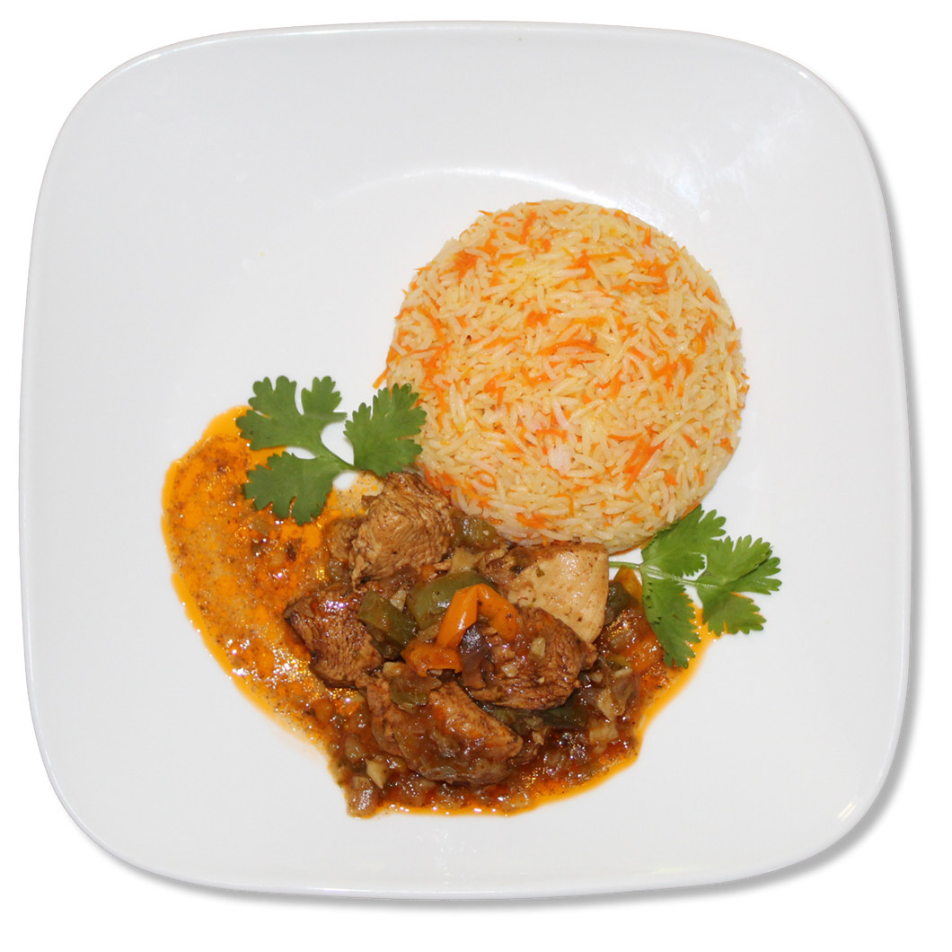 Stewed Chicken and Carrot Rice [R]