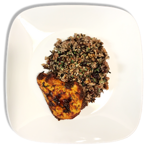 Cranberry Pecan Wild Rice and Spicy Oven Baked Chicken (Family Size)