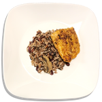 Cranberry Pecan Wild Rice and Pan-Seared Salmon