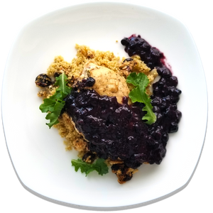 Goat Cheese Stuffed Chicken w/ Blueberry Sauce [R]