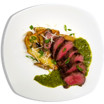 Grilled Hanger Steak w/ Chimichurri and Truffle Roasted Potatoes