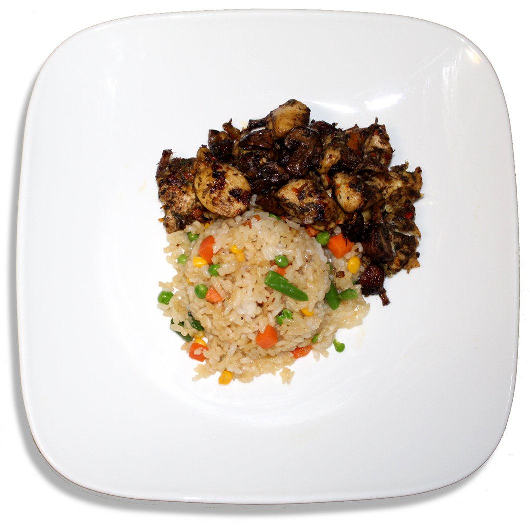Jerk Chicken and Coconut Fried Rice [R]