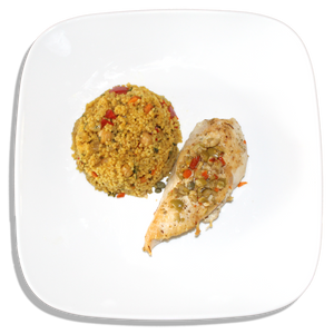 Olive Chicken and Couscous [R]