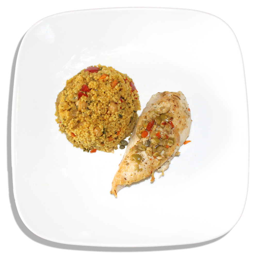Olive Chicken and Couscous