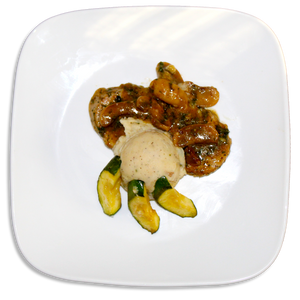 Pork Marsala W/ Savory Mashed Potatoes & Roasted Zucchini
