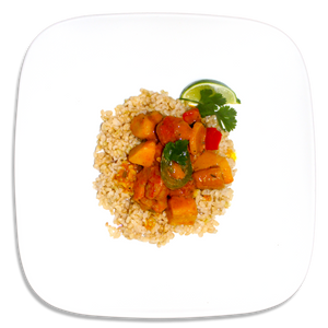 Red Curry Shrimp and Brown Rice