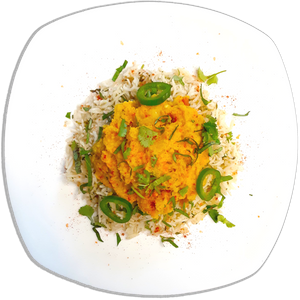 Red Lentil Dhal w/ Herbed Basmati Rice [VG]