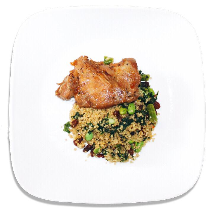 Organic Spartan Spirit Pilaf with Shoyu Chicken