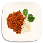 Vegan Tempeh Chili and Herbed Jasmine Rice
