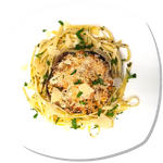 Vegetarian Stuffed Mushrooms w/ Herbed Fettuccine