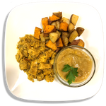 Spicy Curried Potatoes and West Indian Curried Chicken