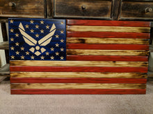 Load image into Gallery viewer, Veteran Made Rustic Flag
