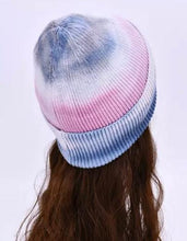Load image into Gallery viewer, Tie-dye Beanie Hat Purple