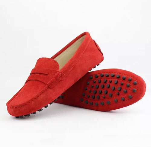 Ladies Loafer - Red