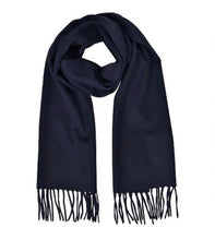Load image into Gallery viewer, Cashmere blend Scarf - Navy