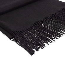 Load image into Gallery viewer, Cashmere blend Scarf - Black