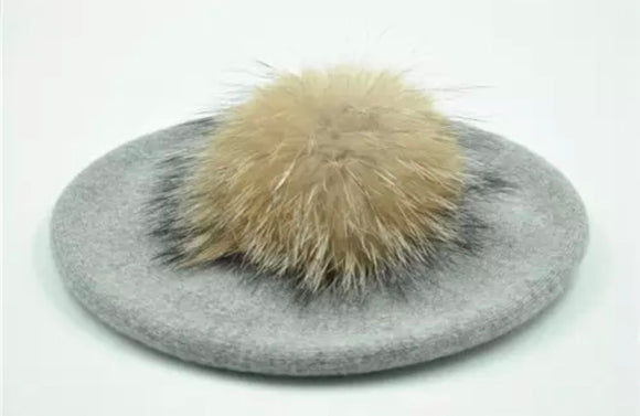 Adult Fox Grey Beret