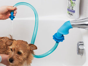 Rinseroo: The Easy To Use Dog Wash Hose Attachment for Shower Heads, Sink and Spigot