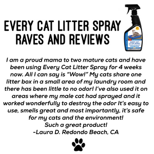 Every Cat Litter Spray - Urine Enzyme Cat Odor Spray Instantly Eliminate Litter Box Odor. Cut Litter Box Changes in Half!