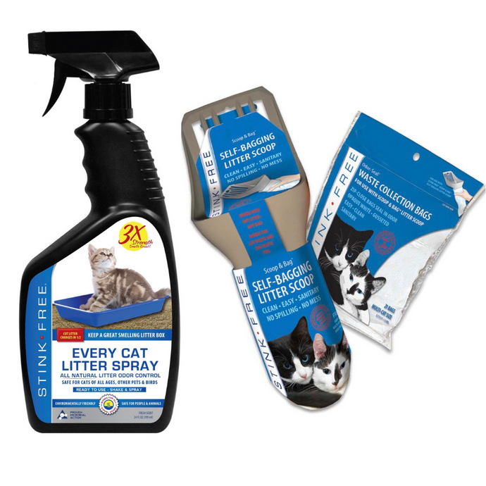 Every Cat Litter Spray & Scoop w/ 21 Odor Seal Bags