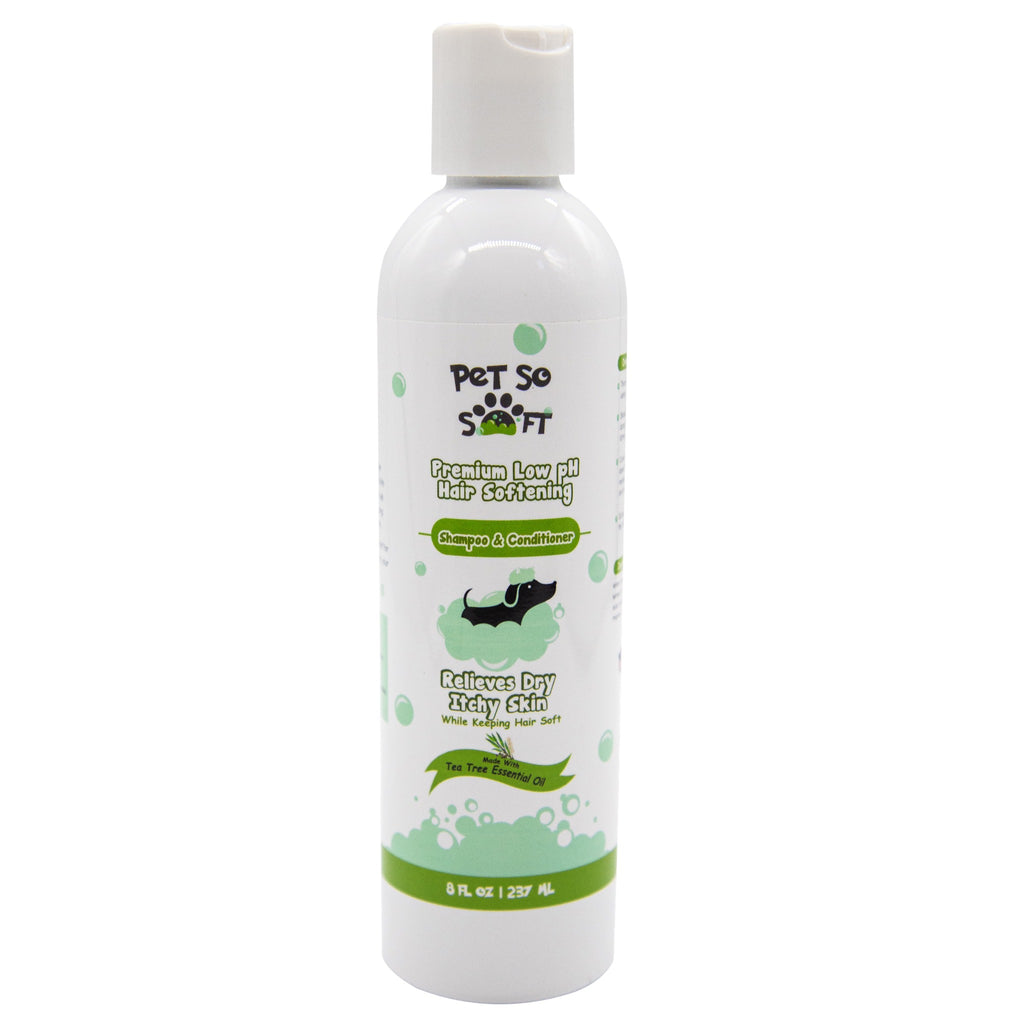 Pet So Soft Hair Softening Pet Shampoo & Conditioner w/ Tea Tree Oil 8 oz
